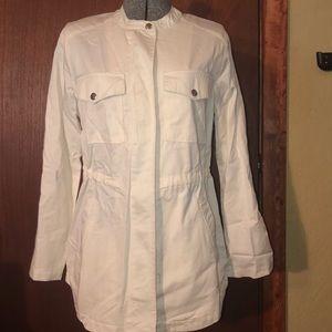 Women's white trench coat